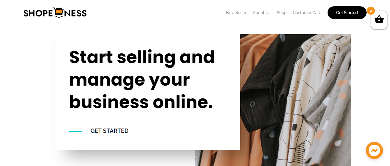 Start selling and manage your business online with Shopeness
